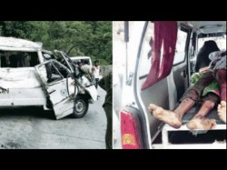 People Killed Over 18 Injured As Tempo Traveller Overturned In Kempuhole Shiradi Ghat