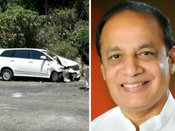 Ex Minister Vinay Kumar Sorake Car Accident At Puttur