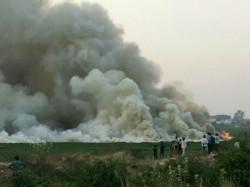 After Bellandur Lake Now Fire Finds In Benniganahalli Lake