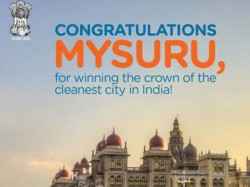 Third Time Mysuru Entitled Has Clean City India