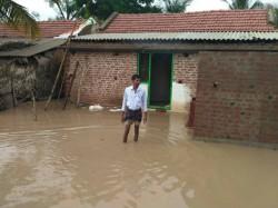 Mysuru District Hedatale Village Inundated For Heavy Rainfall