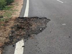 Rain Fall In Gundlupet Unveils Poor Construction Of Roads