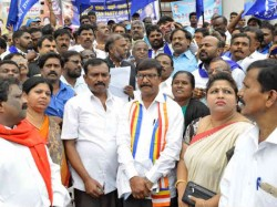 Sc St State Government Employees Protest In Bengaluru