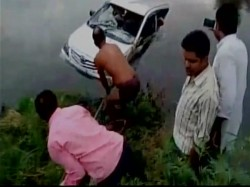 Killed As Car Falls Into Canal In Mathura
