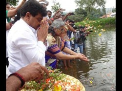 Minister Mb Patil Special Pooja Performed In Talakaveri For Rain