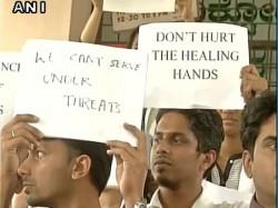 Medical College Doctors Protesting In Bengaluru Demanding Adequate Security