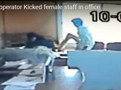 Computer Operator Suspended In Raichur For Kicking Woman In Corporation Office