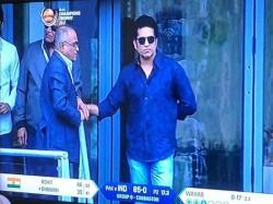 Sachin Tendulkar Watches India Pakistan Match At Edgbaston Champions Trophy