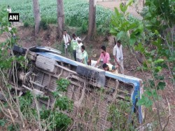Man Dies When A Bus Fell Into The Canal In Sambhal District Of Uttar Pradesh
