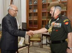 Chief Army Staff General Bipin Rawat Meeta President Of India Ram Nath Kovind