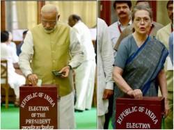 Presidential Polls 2017 Modi Amit Shah Rahul Gandhi Sonia Gandhi Casts Vote