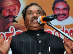 Why Ks Eshwarappa Skipped The Bjp State Executive Committee Meeting