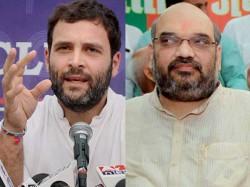 Bjp National President Amit Shah Aicc Vp Rahul Gandhi Karnataka Visit