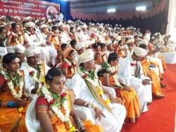 Couples Tied The Knot Mass Marriage Ceremony At Nanjangud