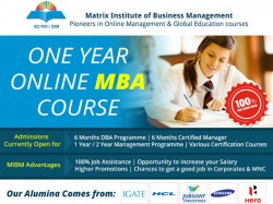 Mibm Global One Year Online Mba Course