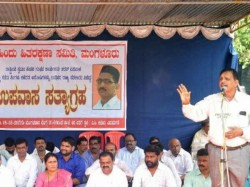 Rss Hunger Strike Against For The Delay In Arresting The Murderers Of Sharath