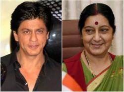 Rescue Me Man Watching Shah Rukh Khan Movie Tweets Shushma Swaraj
