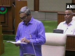 Parrikar Reaches Assembly To Present State Budget
