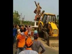 Violence Erupted In Tripura After Lenin Statue Razed
