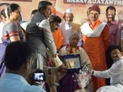 B Jayashree Coferred With Basava Bhushan Award In Dubai