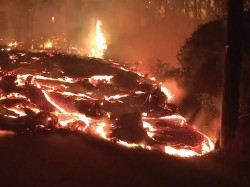 Hawaii Street Swallowed By Lava Tide As Many More Homes Burn
