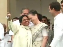 Sonia Gandhi Mayawati Hugging Picture Attracts Many Eyes