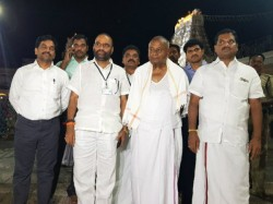 Former Pm Deve Gowda Celebrating His 86th Birthday In Tirupati