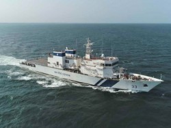 Patrolling Vessel Icgs Vikram Reinforce Coast Guard In Managalu