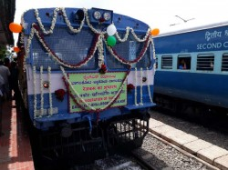Rail Bus Service Has Begun On New Railway Line Between Bagalkot And Khajjidoni