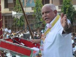 Plan By Father Son To Finish Congress B S Yeddyurappa