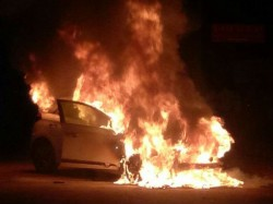 Mangaluru Car Catches Fire Due To Short Circuit