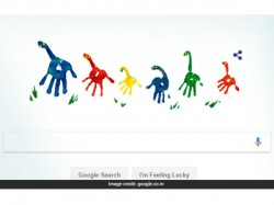 Google Celebrates Fathers Day With Colorful Dinosaur Like Doodle