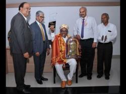 Music Director Hamsalekha Inaugurating New Media Center At Reva University