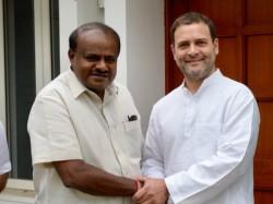 Karnataka Cm Kumaraswamy Met Rahul Gandhi Today