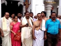 Ks Eshwarappa Visits Kukke Subramanya Temple