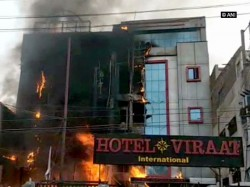 Killed After Fire Breaks Out In Lucknow Hotel