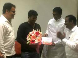 Sampark For Samarthan Muralidhar Rao Meets Puneeth Rajkumar
