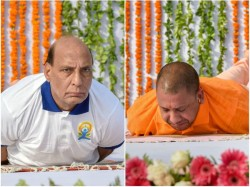 International Yoga Day Pictures Of Indian Politicians And Celebrities