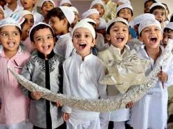 Muslim Community Celebrating Sacred Festival Eid Ul Fitr Happily In Udupi