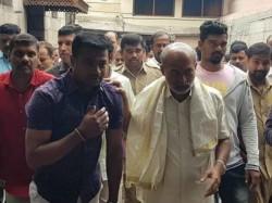 Sa Ra Mahesh Followers Offered Prayer To Chamundeshwari In Mysuru
