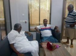 Hd Revanna Meets Former Chief Minister Siddaramaiah