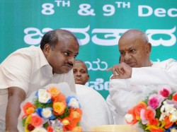 Kumaraswamy Met Deve Gowda Ahead Of Cabinet Expansion