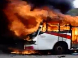 Fire In Ksrtc Bus Due To Short Circuit
