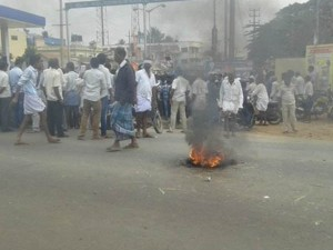 Protest Against The Insult To Basavanna Statue Chamarajanagar