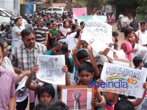 Tamilians Protest Against Jallikattu Ban In Mangaluru