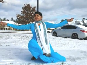 Beauty Of Winter And Pleasure Of Dancing On First Snowfall