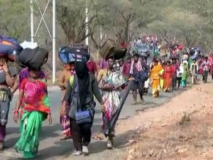 Devotees Climb Mahadeshwara Hills In Bare Foot