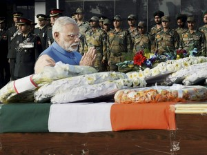 Pm Army Chief Pay Tributes To Soldiers Martyred In North Kashmir