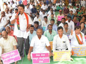 Bjp Stage Protest In Mysuru Demand Sacking Of Corrupt Ministers