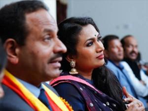 Kannada Actress Shwetha Srivastav Enthrals Qatar Kannadigas